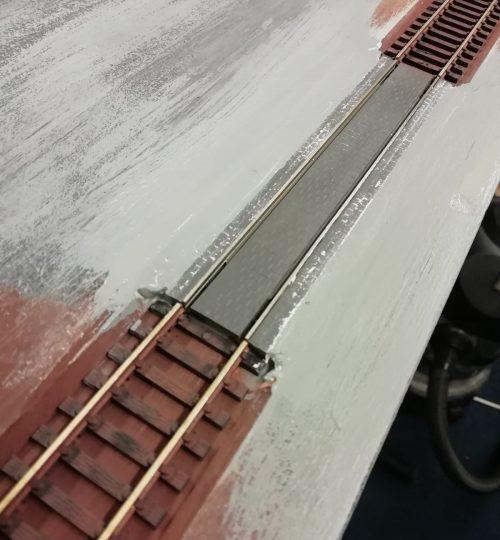 tramrails overgang