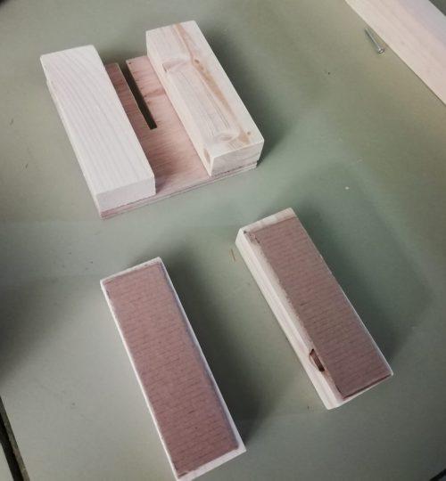Opsluitblokken met extra karton